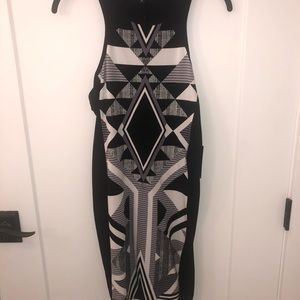 NWT - Express Geometric Print Midi Dress